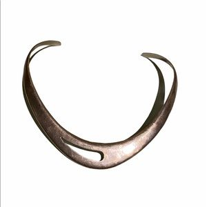 Mexican silver neck ring